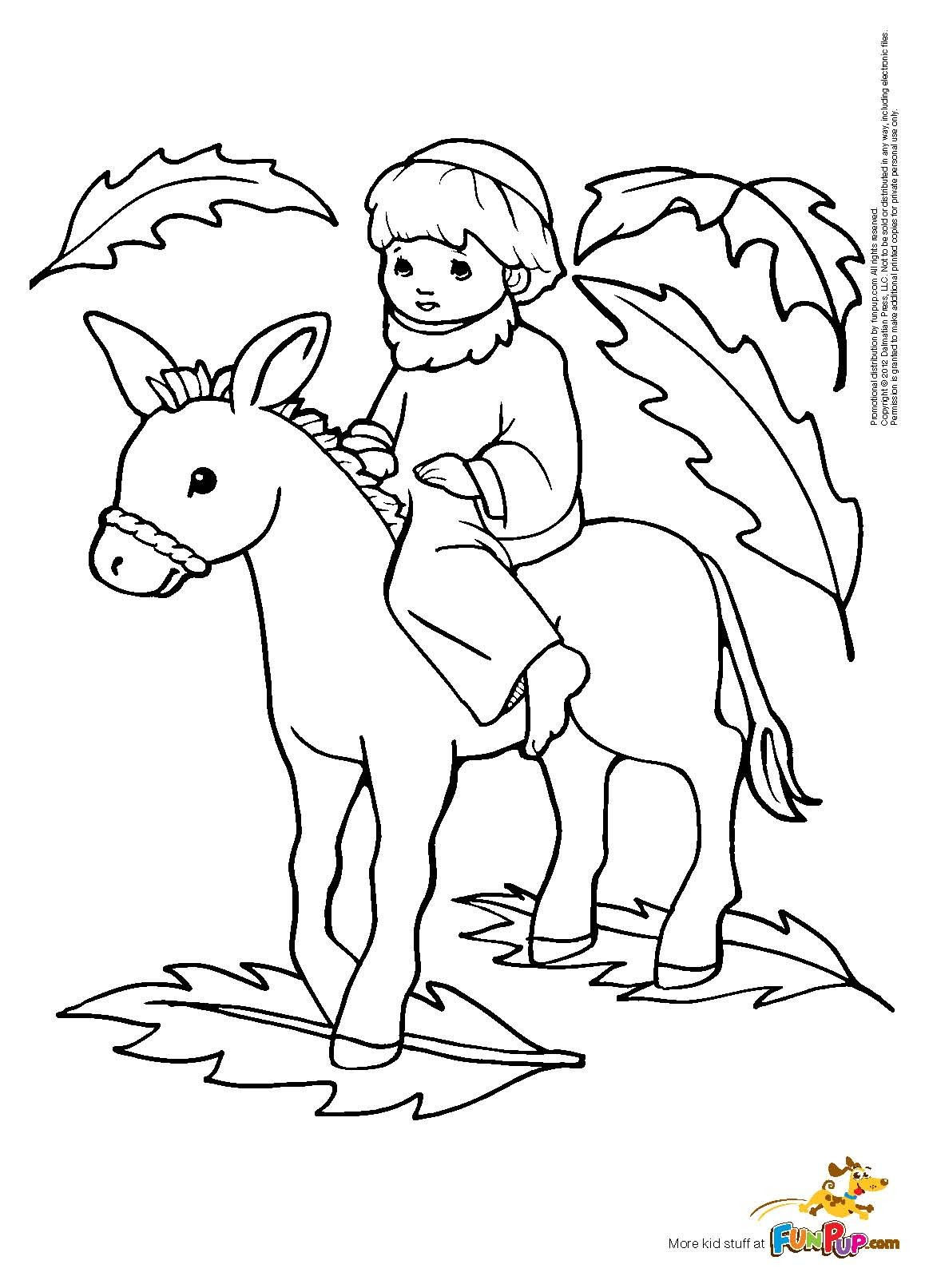 Palm Sunday Coloring Pages - Coloring Home