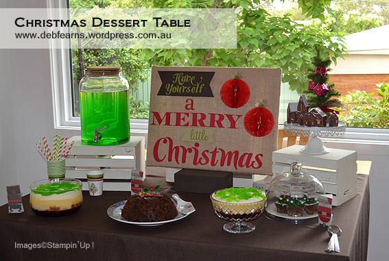 JAI #196 Challenge Just Add Christmas Project by Deb Fearns (Dessert Table2)
