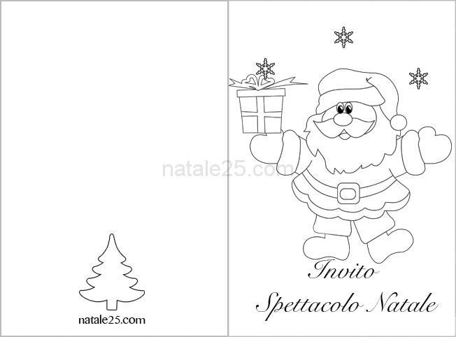 Invito Spettacolo Di Natale Da Colorare Natale 25