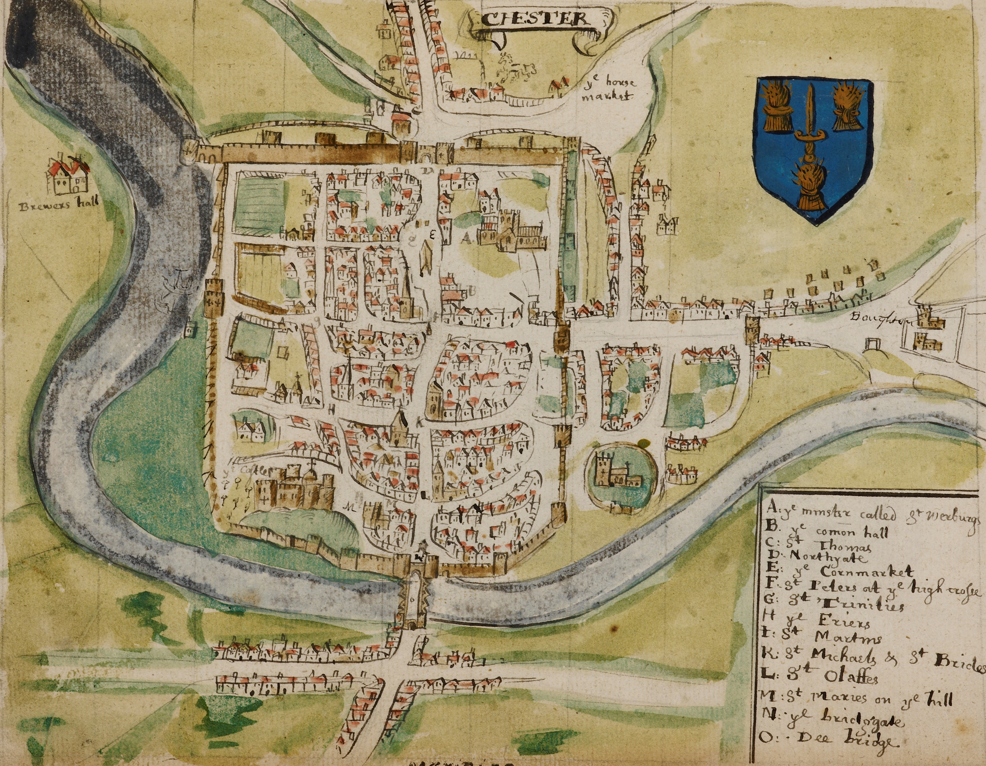 maps of medieval cities chester