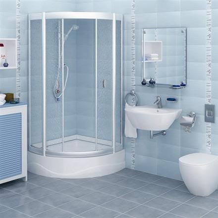 Awesome Blue Bathroom Wall Tiles Design wallpaper