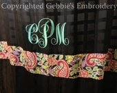 monogram shower curtain on Etsy, a global handmade and vintage ...