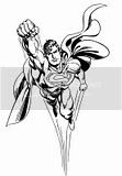 Cool Superman coloring sheets of him soaring through the air faster than a speeding bullet!