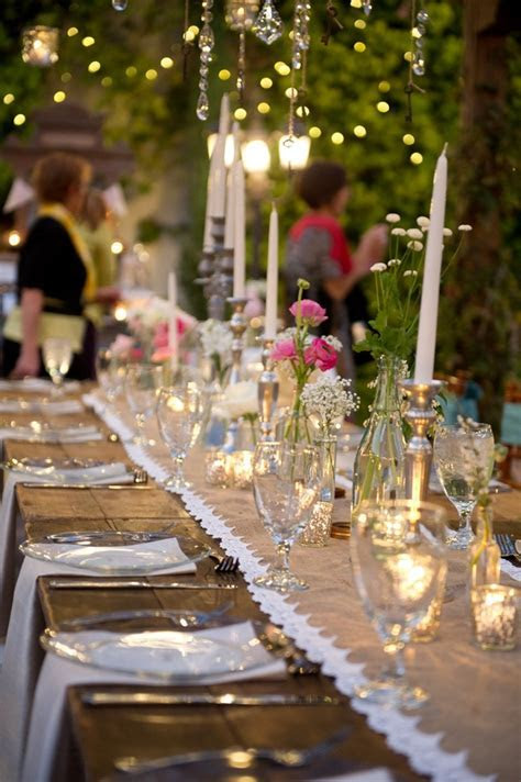 for the table vintage wedding reception 1   Fab Mood