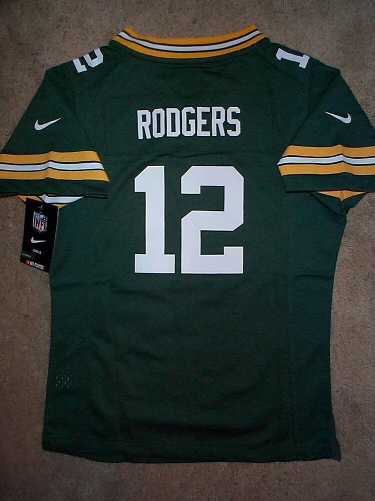 20162017 NIKE Green Bay Packers AARON RODGERS nfl Jersey Youth *GIRLS* xl  eBay