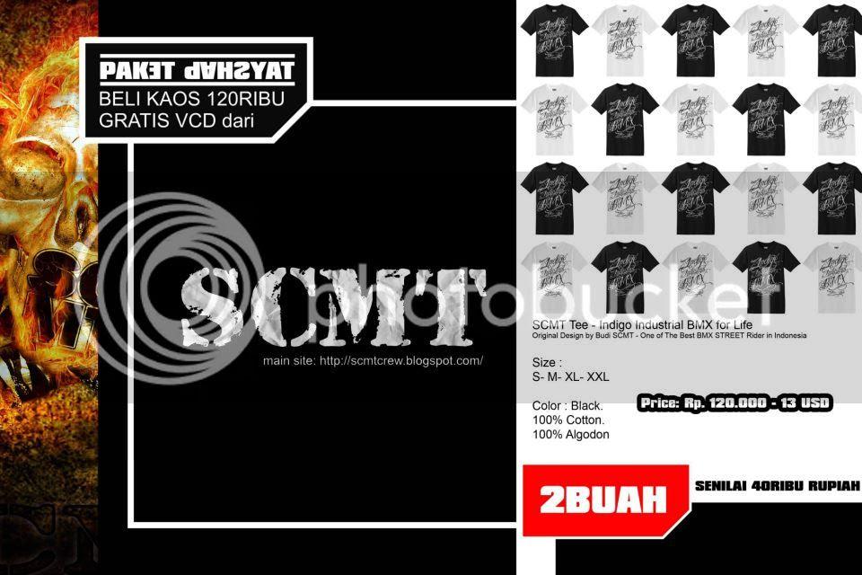 SCMT Tee - Indigo Industrial BMX for Life
