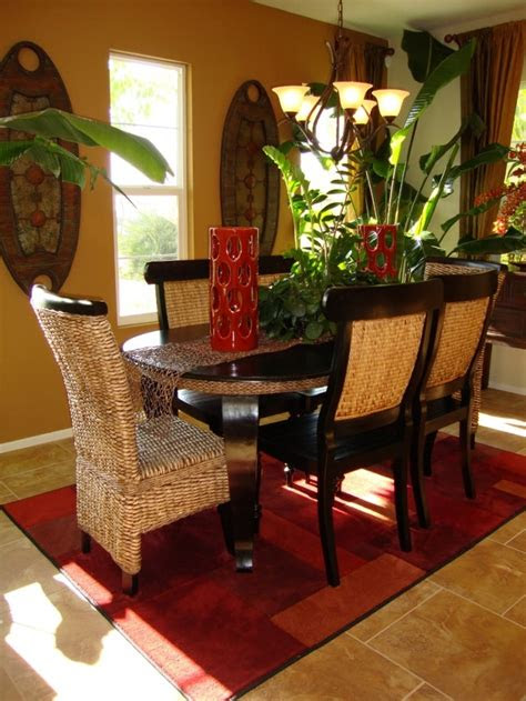 dining room  tropical interior decoration ideas