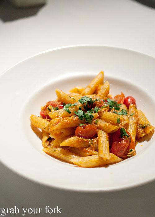 Penne pasta with rock cod and tomato at Buon Ricordo, Paddington