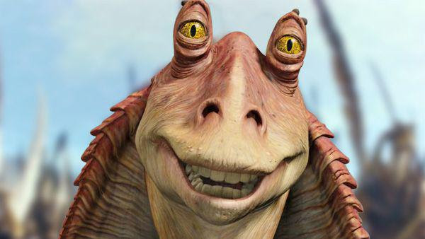 Jar Jar Binks, from Star Wars.
