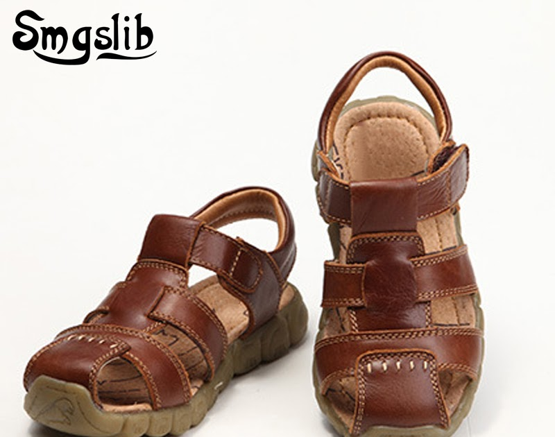 0ea3184198a Tanie Children Shoes Genuine Leather Boys Sandals Single Toddler Boy  Gladiator Casual Comfortable Summer Beach Kids Cena