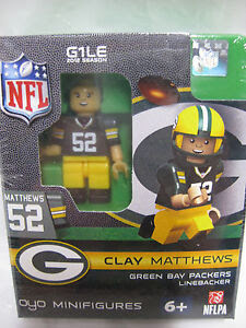 Clay Matthews NFL Green Bay Packers OYO Mini Figure Lego Compatible New G1LE  eBay