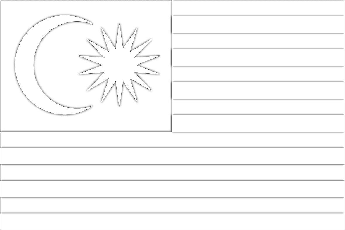 Lukisan Jalur Gemilang Bulan Bintang Bendera Malaysia