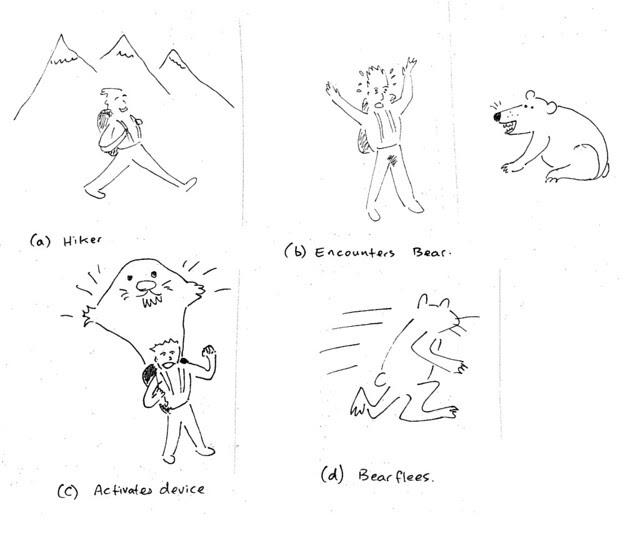 Patente 20050028720 para espantar osos