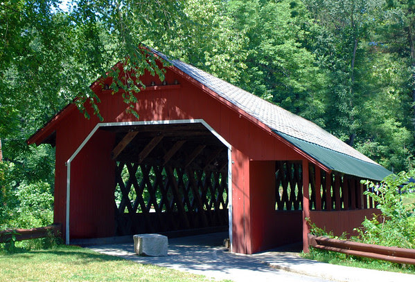 The Creamery Covered Bridge in Brattleboro, Vermont.
