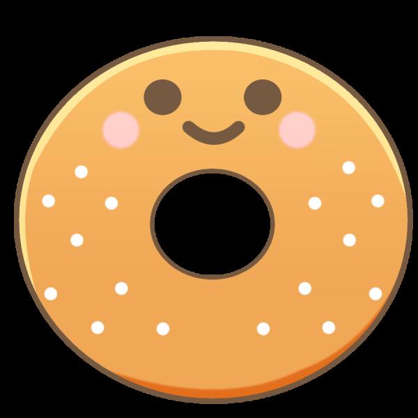 ドーナツのキャラクターのイラスト かわいいフリー素材が無料の
