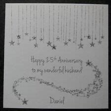 Silver Wedding Anniversary Card   eBay