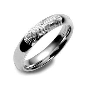Fingerprint Wedding Band   Men's Fingerprint Wedding Band