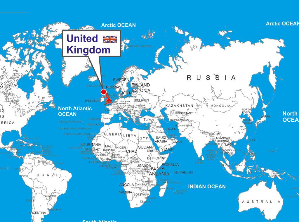 25 Luxury Uk Map In World Map