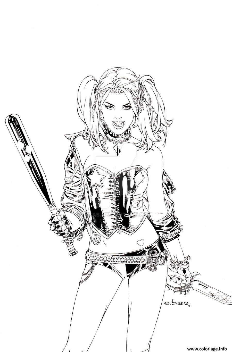 Coloriage Harley Quinn By Ebas Daaofp7 Jecoloriecom