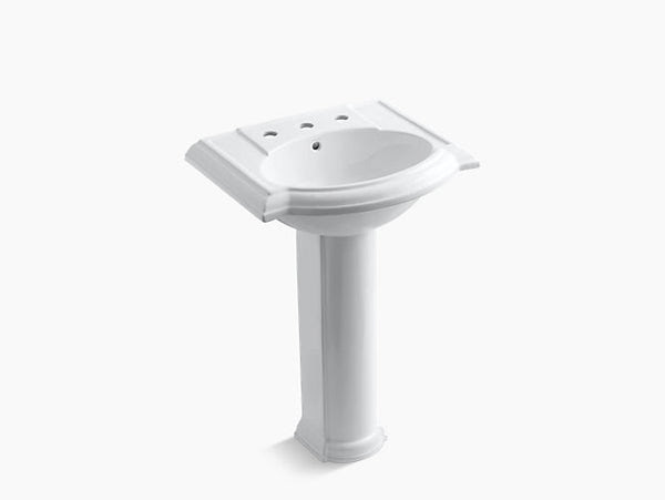 Kohler Devonshire 24 Bathroom Pedestal Sink With 8 Widespread