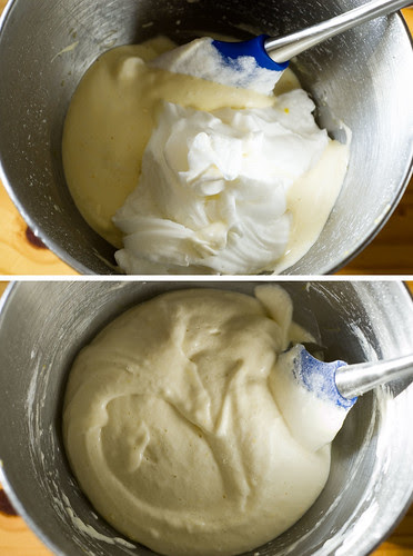 dobos torte - folding the batter