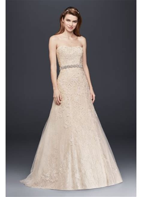 Jewel Lace A Line Wedding Dress with Beaded Detail   David