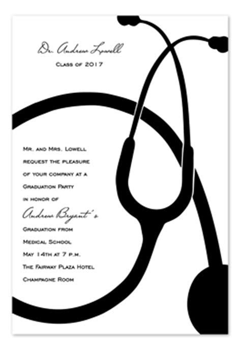 Stethoscope   Graduation Announcements by Invitation