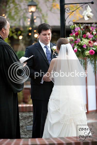 Deerpark wedding at Biltmore groom saying vows