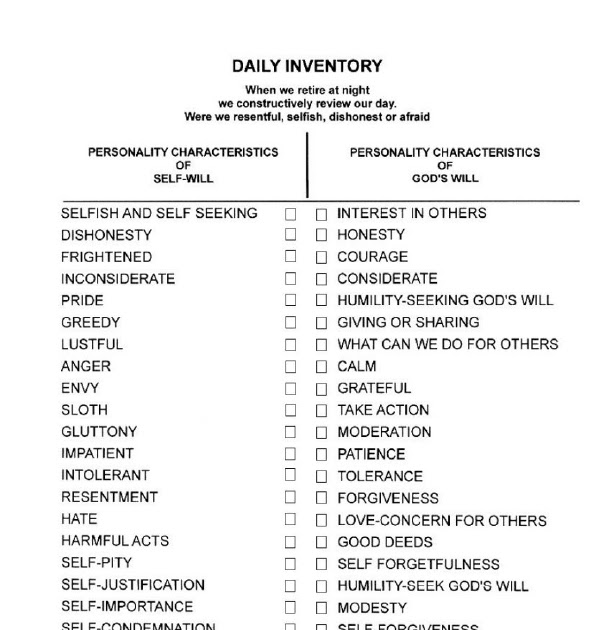 Daily Inventory Sheet Aa
