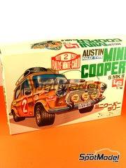 Maqueta de coche 1/16 SpotModel - LS - Austin Mini Cooper Mk II Rally  - Rally de Montecarlo  image