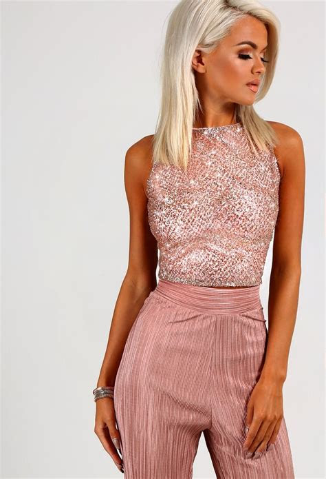 roseanne rose gold glitter crop top  summer fashion