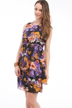 Apparel Showrom Purple Floral Dress