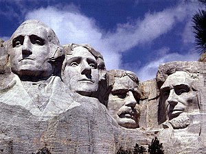 Mount Rushmore located in the Black Hills of S...