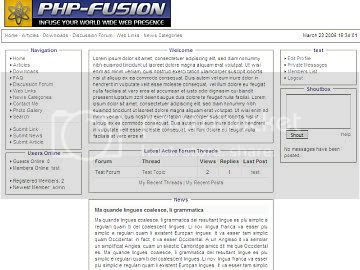 Free php-fusion White Clean 3 Columns Theme