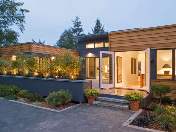 Green Technology Modular Prefab House Design with Wooden Wall and Beautiful Views Ideas.