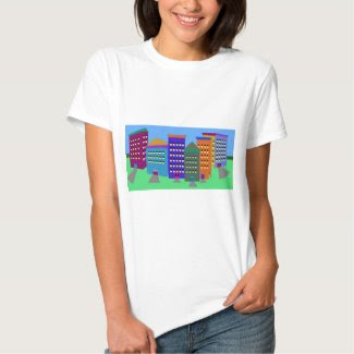 City Art on Women's T-Shirt