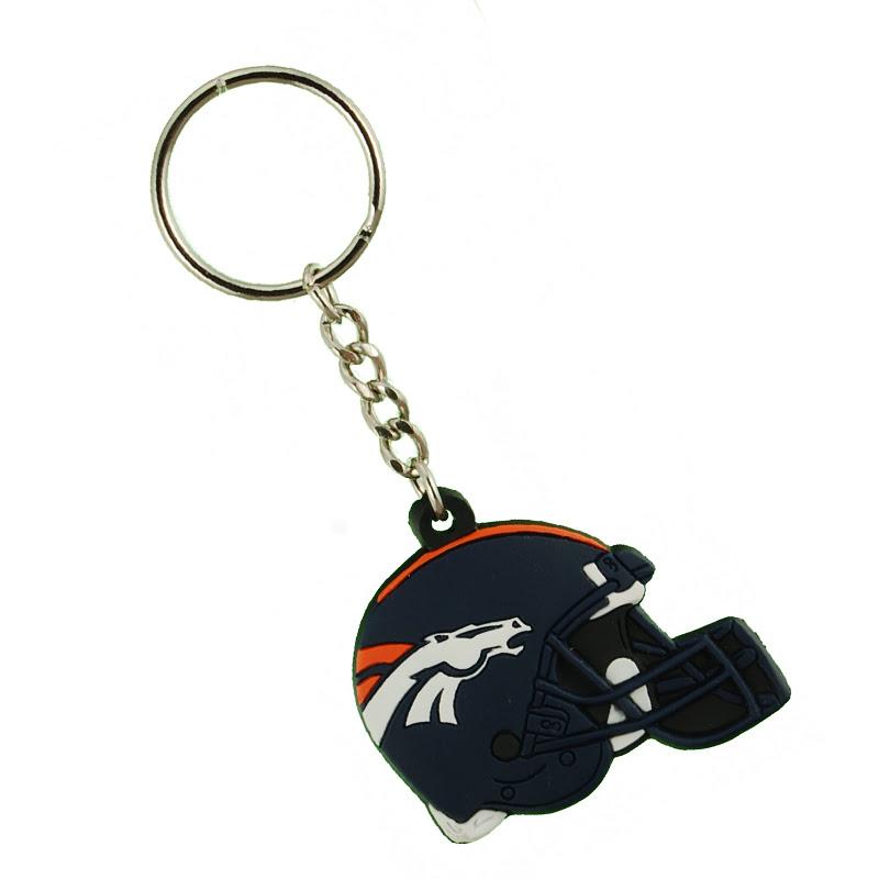 Denver Broncos NFL Helmet Keychain
