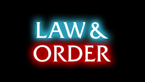 English: Self made Law & Order logo