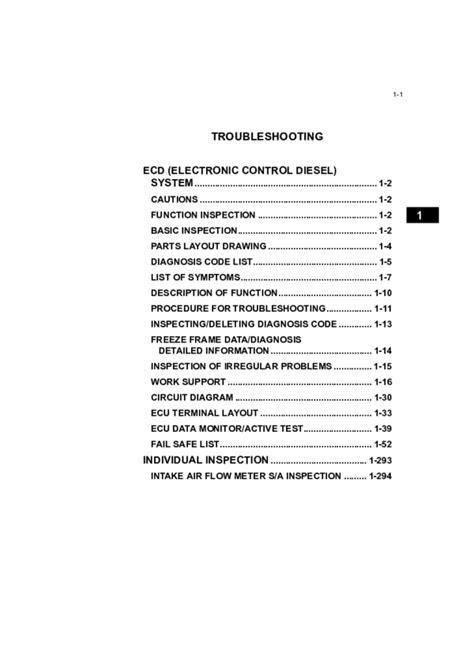 (PDF) Toyota 1KD Engine Repair manual (Troubleshooting