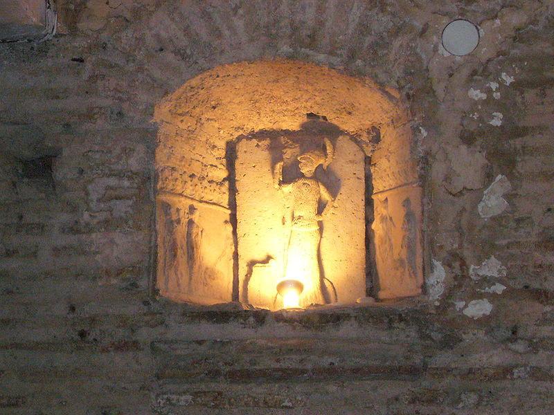 File:Trastevere - s Cecilia - casa romana - larario 1000560.JPG