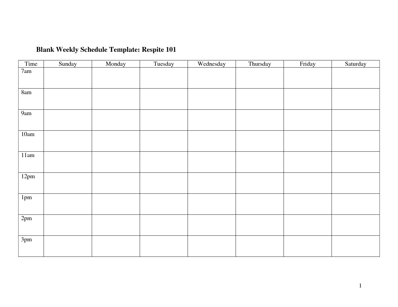 blank weekly work schedule template_14355