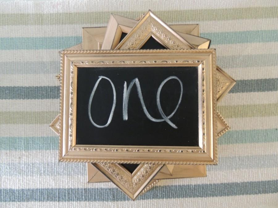 Gold Silver Or Copper Distressed Chalkboard Frames Table Numbers