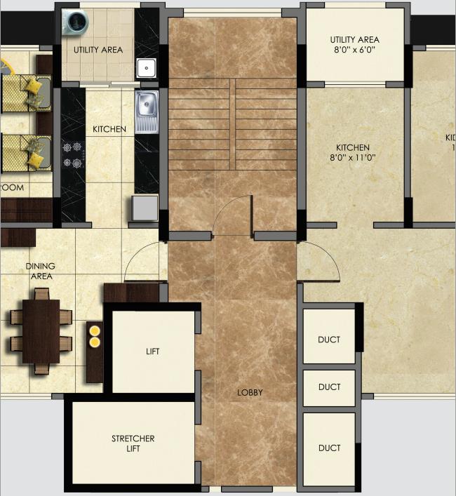 Floor Lobby of Suhas Mantri Constructions' Mystica behind Shivar Garden Hotel Rahatani Road Pune 411017