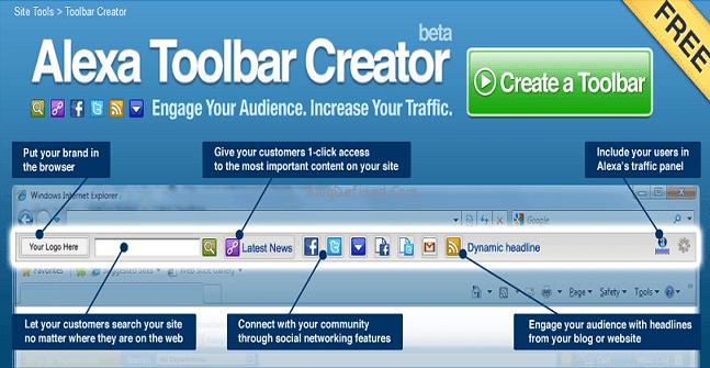 create Alexa toolbar