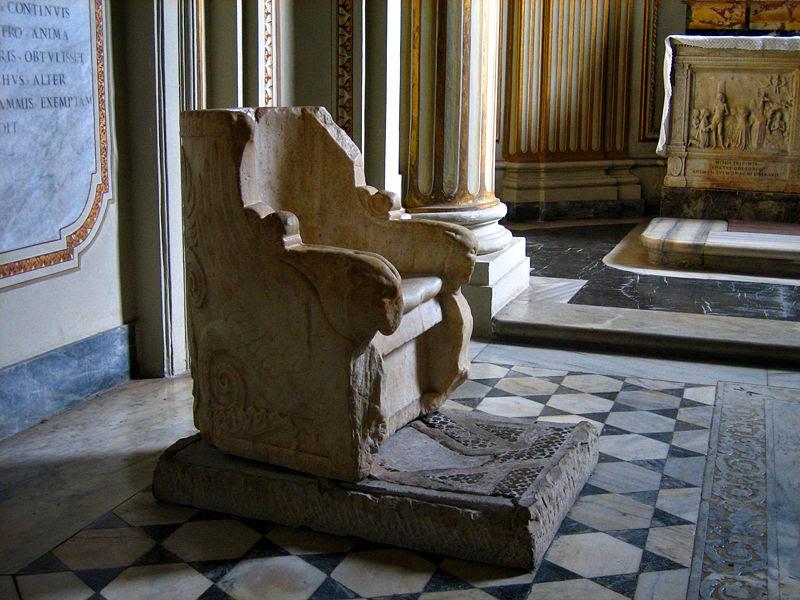File:San Gregorio al Celio throne of st gregory.jpg