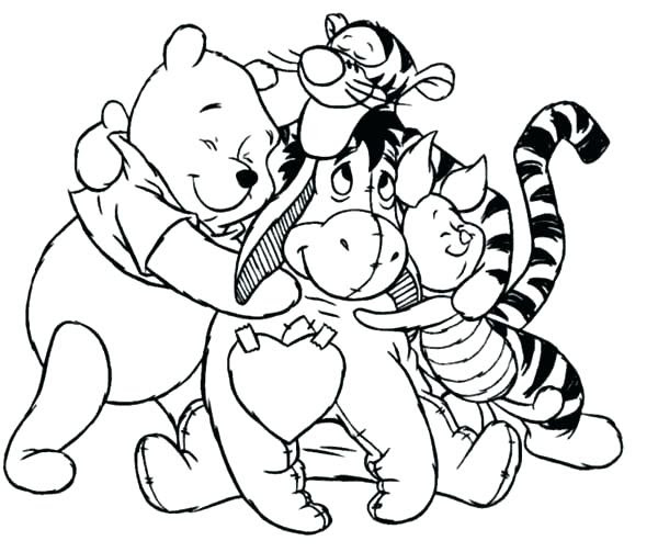 Whinney The Pooh Coloring Pages At Getdrawingscom Free For