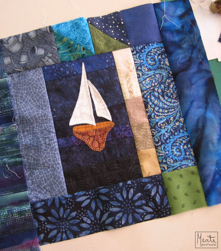 strip challenge :: sailboat block :: remsesøm