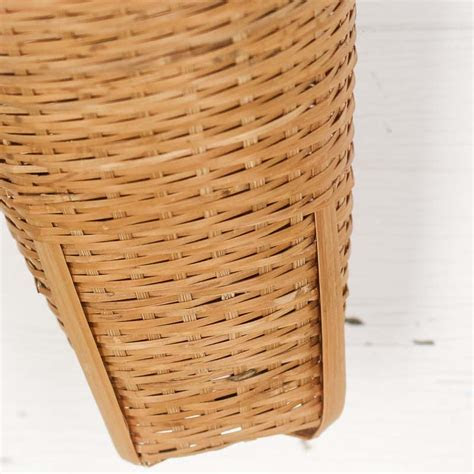 Wicker Cone Wall Hanging Basket   Baskets   Floral