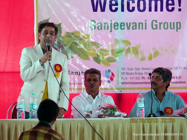 Mr. Sanjay Deshpande of Sanjeevani Developers - Handing Over Ceremony of Sanjeevani Developers' Sangam at Sus on Sunday 20th October 2013