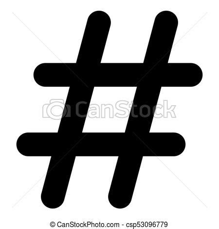 illustration  hashtag icon  white background